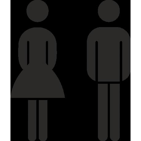 Aufkleber Gemischte Toilette (ohne Hintergrund)