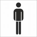 Herrentoilette Aufkleber (mit Hintergrund)