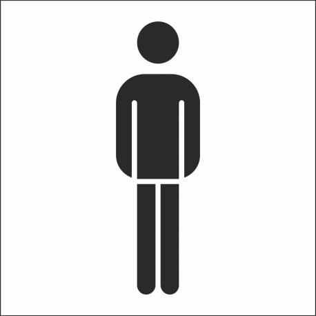 Herrentoilette-Aufkleber (mit Hintergrund)