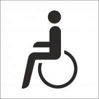 Behindertentoilette Aufkleber (mit Hintergrund)
