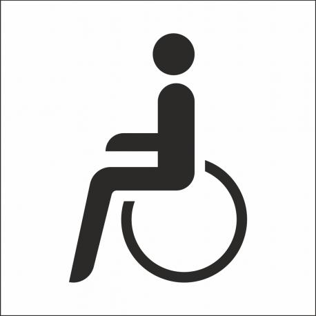Behindertentoilette-Aufkleber (mit Hintergrund)