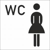 Damen WC Aufkleber (mit Hintergrund)