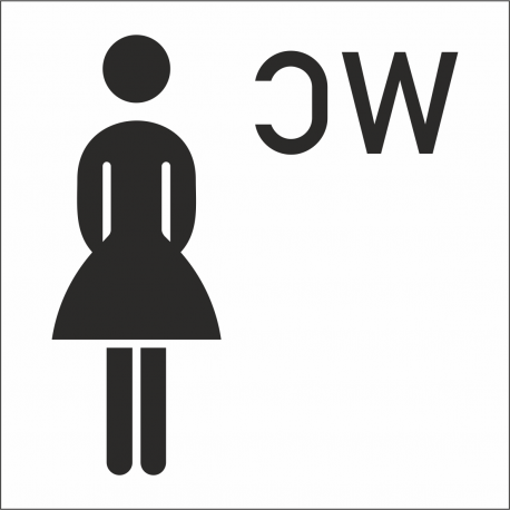 Damen-WC-Aufkleber (mit Hintergrund)