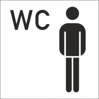 Herren-WC-Aufkleber (mit Hintergrund)