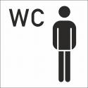 Herren WC Aufkleber (mit Hintergrund)
