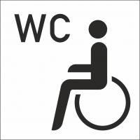 Behinderten-WC-Aufkleber (mit Hintergrund)