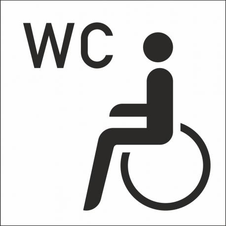 Behinderten Wc Aufkleber Mit Huntergrund Für Innen Und Außen