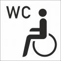 Behinderten WC Aufkleber (mit Hintergrund)