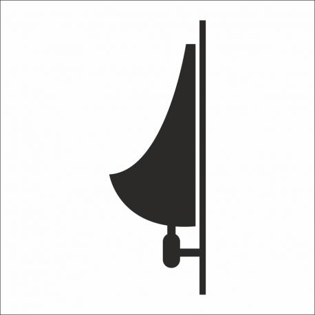 Pissoir-Aufkleber (mit Hintergrund)