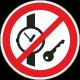 """Aufkleber """"das mitführen von Metallteilen oder Uhren verboten"""""""