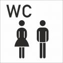 Aufkleber Gemischtes WC (mit Hintergrund)