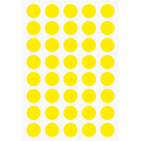 Markierungsaufkleber runde 15 mm pro Blatt (40 Stück)