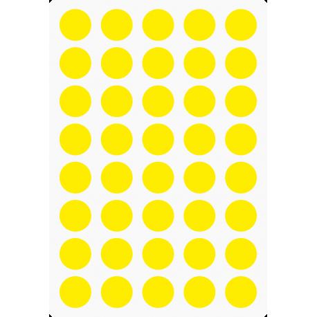Markierungsaufkleber Ø 15 mm pro Blatt (40 Stück)