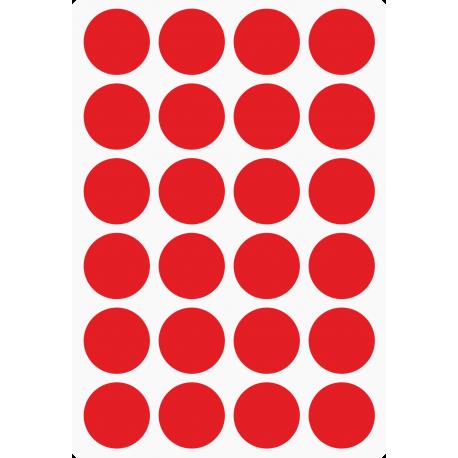 Markierungsaufkleber Ø 25 mm pro Blatt (24 Stück)
