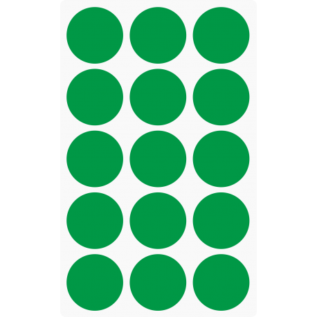 Markierungsaufkleber Ø 35 mm pro Blatt (15 Stück)