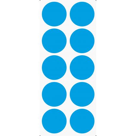 Markierungsaufkleber Ø 50 mm pro Blatt (10 Stück)