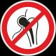 """Aufkleber """"kein Zutritt für Personen mit Implantaten aus Metall"""""""