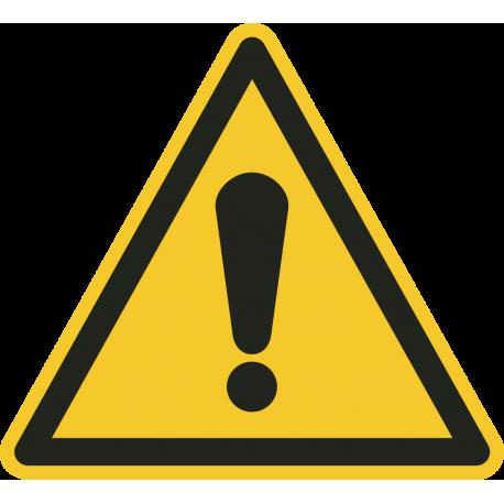 Allgemeines Warnzeichen-Fußbodenaufkleber
