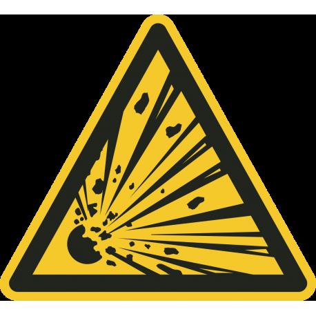 """""""Warnung vor explosionsgefährlichen Stoffen""""-Fußbodenaufkleber"""