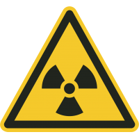 """""""Warnung vor radioaktiven Stoffen oder ionisierender Strahlung""""-Fußbodenaufkleber"""
