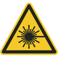 """Warnung vor Laserstrahlen""-Fußbodenaufkleber"