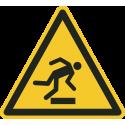"""""""Warnung vor Hindernissen am Boden""""-Fußbodenaufkleber"""