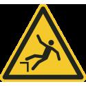 """""""Warnung vor Absturzgefahr""""-Fußbodenaufkleber"""