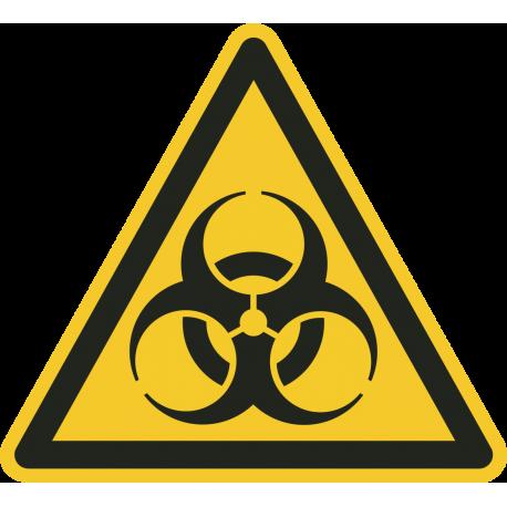 """Warnung vor Biogefährdung""-Fußbodenaufkleber"