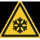 """Warnung vor niedriger Temperatur/Frost""-Fußbodenaufkleber"