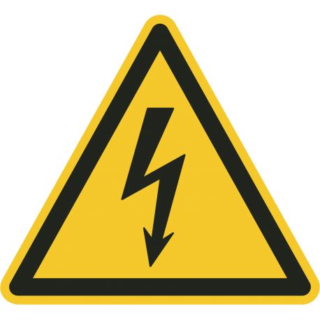"""""""Warnung vor elektrischer Spannung""""-Fußbodenaufkleber"""
