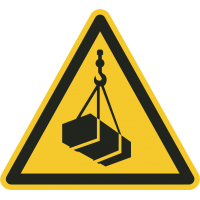 """""""Warnung vor schwebender Last""""-Fußbodenaufkleber"""