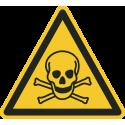 """""""Warnung vor giftigen Stoffen""""-Fußbodenaufkleber"""