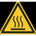 """""""Warnung vor heißer Oberfläche""""-Fußbodenaufkleber"""