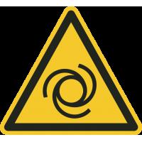 """""""Warnung vor automatischem Anlauf""""-Fußbodenaufkleber"""