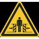 """""""Warnung vor Quetschgefahr""""-Fußbodenaufkleber"""