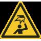 """""""Warnung vor Hindernissen im Kopfbereich""""-Fußbodenaufkleber"""