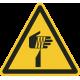 """""""Warnung vor spitzem Gegenstand""""-Fußbodenaufkleber"""