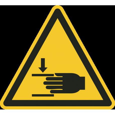 """""""Warnung vor Handverletzungen""""-Fußbodenaufkleber"""