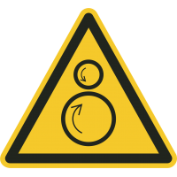 """""""Warnung vor gegenläufigen Rollen""""-Fußbodenaufkleber"""