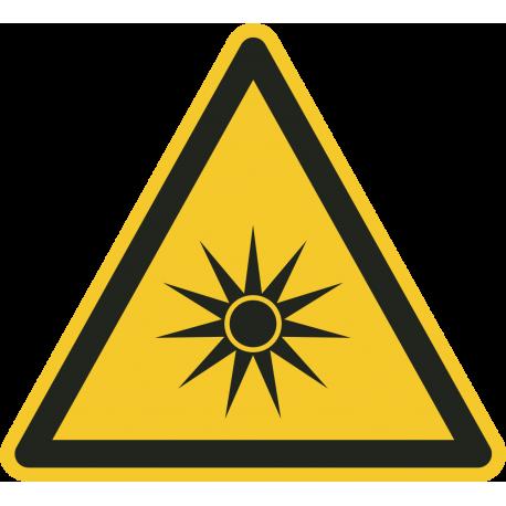 """""""Warnung vor optischer Strahlung""""-Fußbodenaufkleber"""