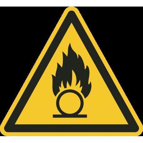 """Warnung vor brandfördernden Stoffen""-Fußbodenaufkleber"