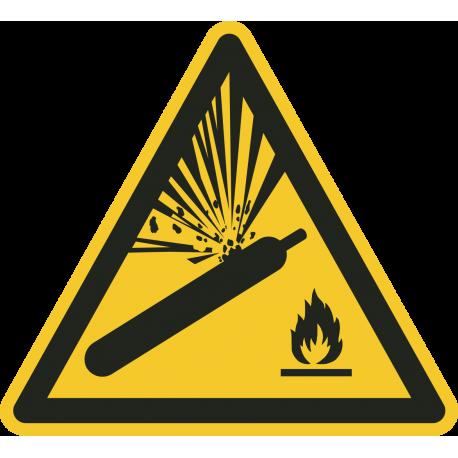 """""""Warnung vor Gasflaschen""""-Fußbodenaufkleber"""