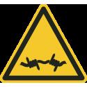 """""""Warnung vor Stacheldraht""""-Fußbodenaufkleber"""