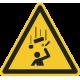 """""""Warnung vor herabfallenden Gegenständen""""-Fußbodenaufkleber"""