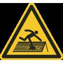 """""""Einsturzgefährdetes Dach""""-Fußbodenaufkleber"""