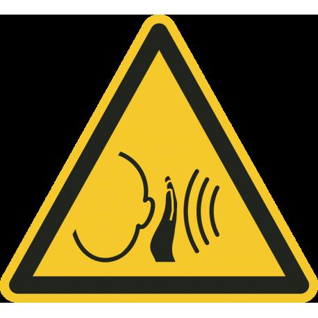 """""""Warnung vor unvermittelt auftretendem lauten Geräusch""""-Fußbodenaufkleber"""