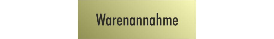 Hinweisschilder (Gold-Look)