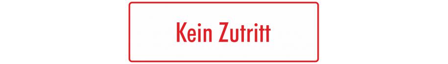Hinweisaufkleber (weiß - rot)