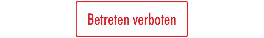 Hinweisschilder (weiß - rot)